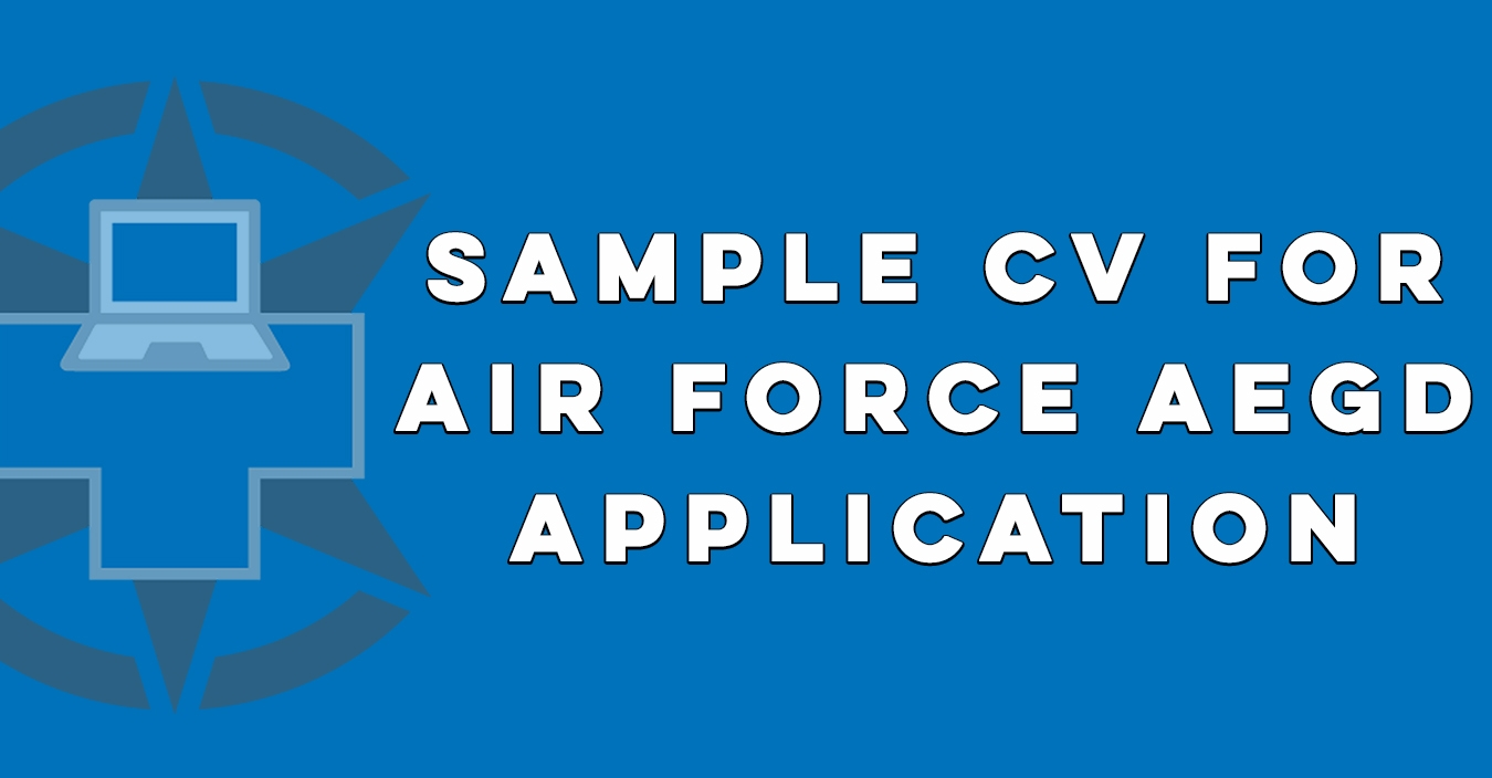 Sample CV for Air Force AEGD Application