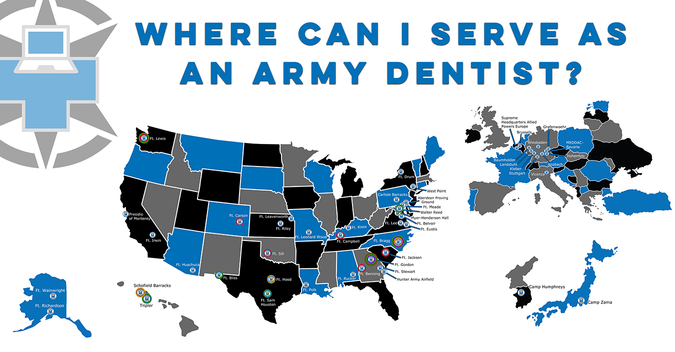 Where Can I Serve As An Army Dentist?