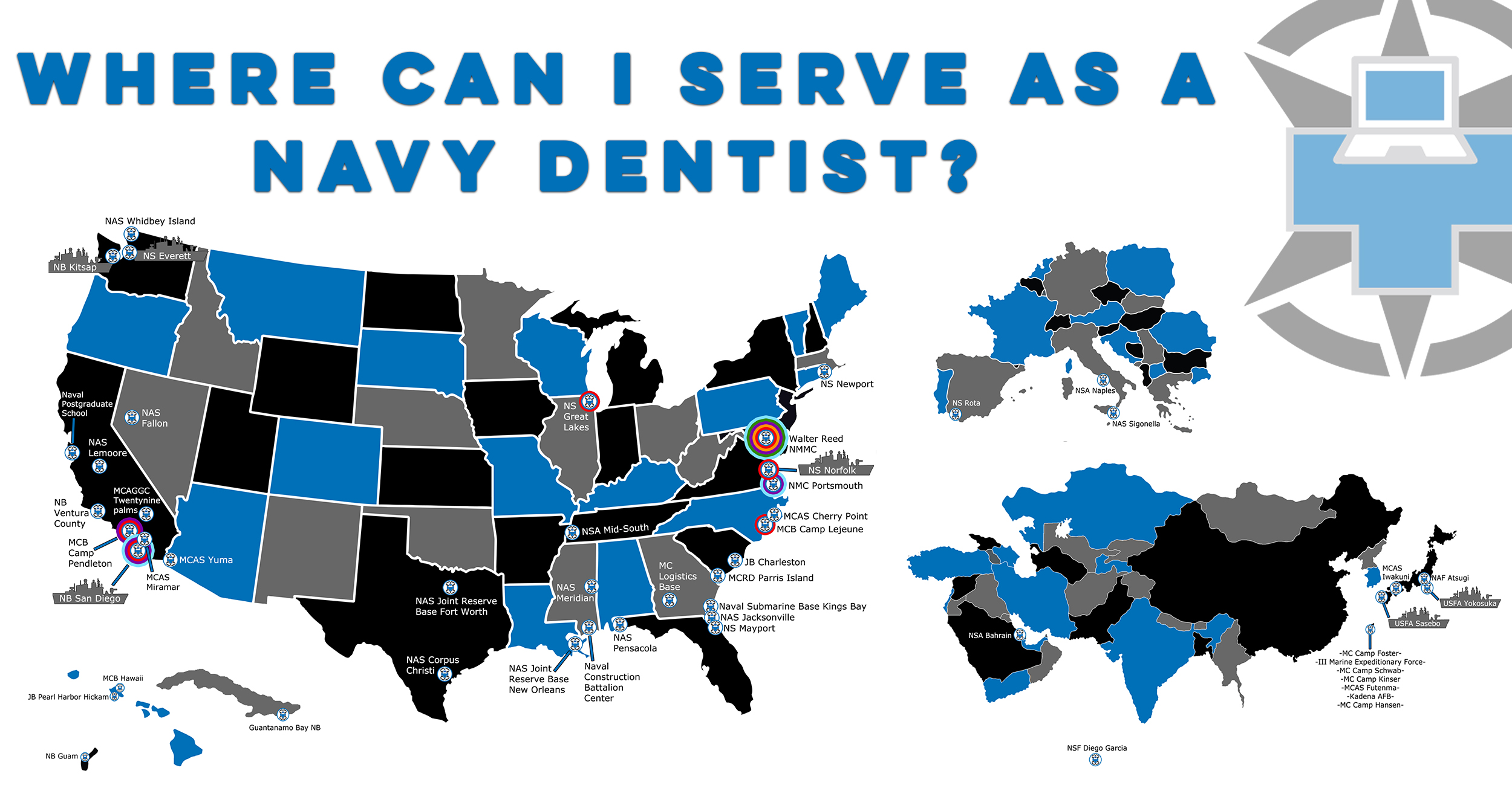 Where Can I Serve As A Navy Dentist?